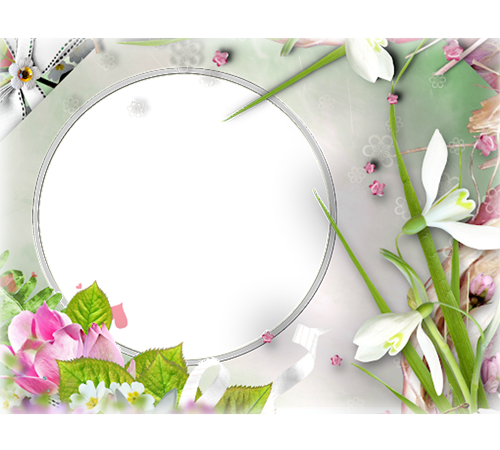 Рамки с цветами для фотошопа: Нежные подснежники