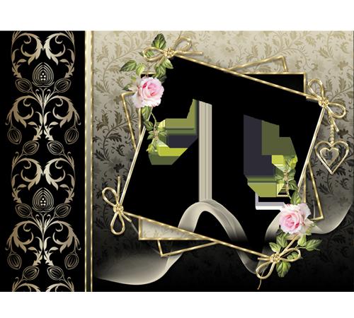 Женские рамки для фотошопа: Винтажная рамка