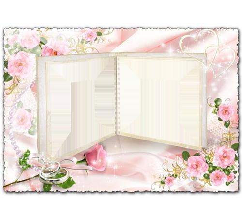 Праздничные рамки для фотошопа: Свадебное фото