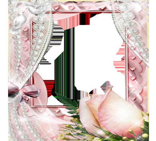 Рамки с цветами для фотошопа: Розы для невесты