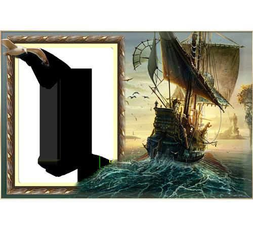 Мужские рамки для фотошопа: Скиталец морей