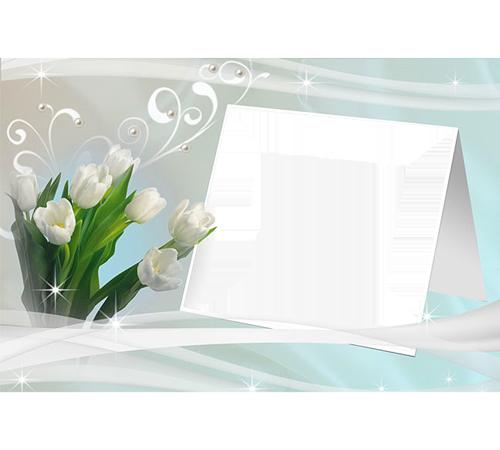 Рамки с цветами для фотошопа: Белые тюльпаны