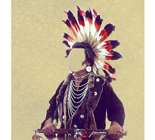 Мужские шаблоны для фотошопа: Вождь индейцев