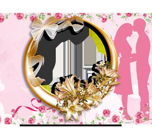 Праздничные рамки для фотошопа: Двое влюбленных