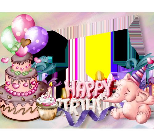 Рамки для новорожденных: Happy Birthday!