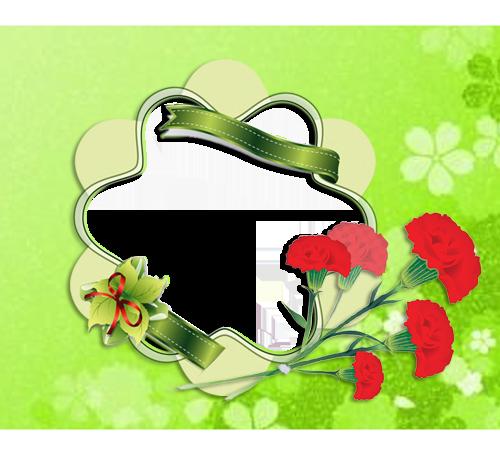 Рамки с цветами для фотошопа: Рисованные гвоздики