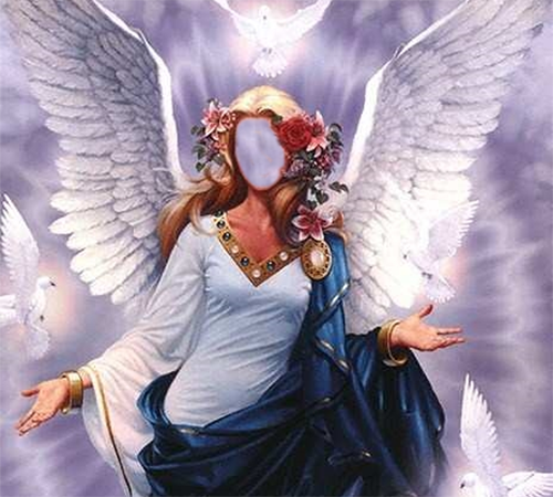 Женские шаблоны для фотошопа: Девушка ангел