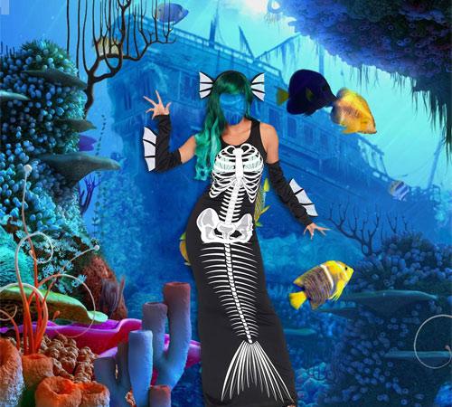 Приколы фотошопа для женщин: Хозяйка подводного мира