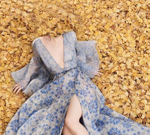 Женские шаблоны для фотошопа: На осеннем покрывале