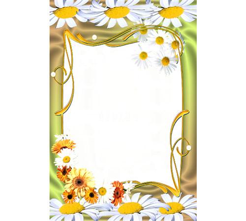 Рамки с цветами для фотошопа: Ромашки