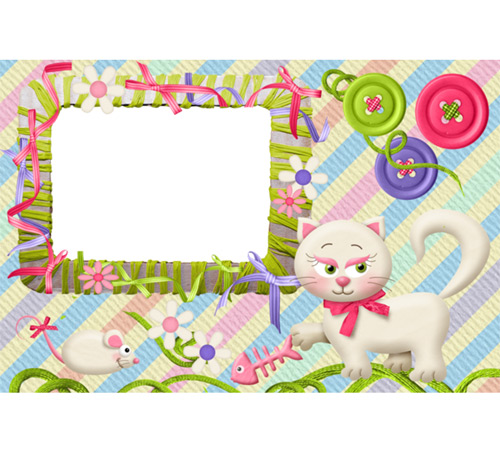Детские рамки для фотошопа: Кошечка милашка