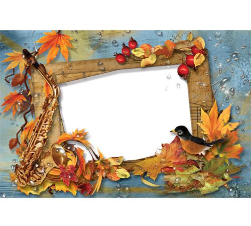 Женские рамки для фотошопа: Осенняя мелодия