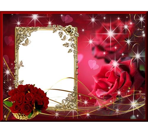 Рамки с цветами для фотошопа: Блеск и розы