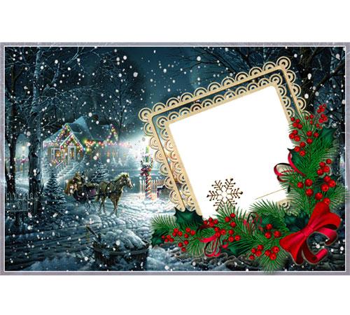 Праздничные рамки для фотошопа: С Рождеством!