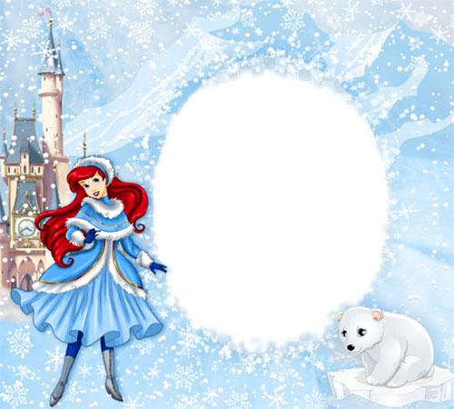 Детские рамки для фотошопа: Зимняя сказка