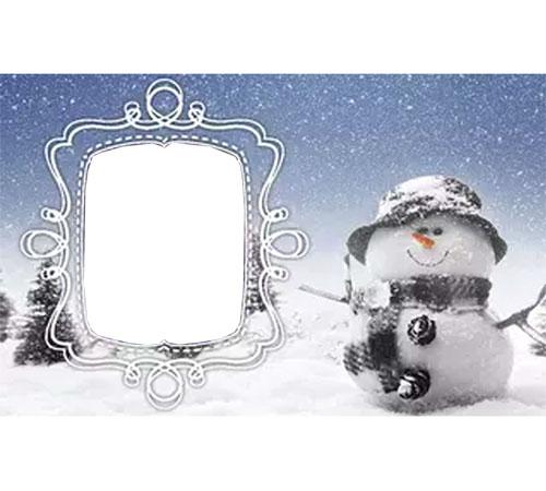 Женские рамки для фотошопа: Настоящая зима