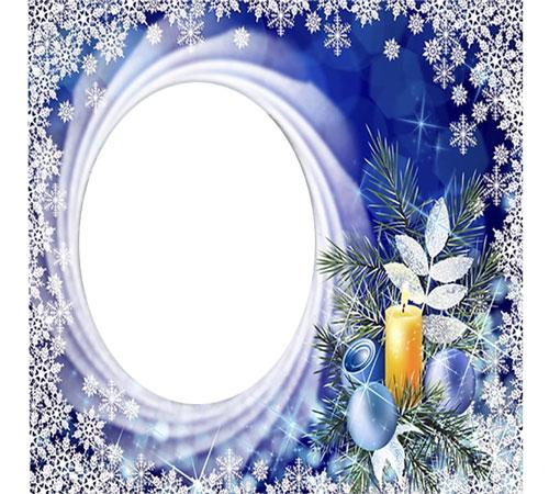 Рамки с цветами для фотошопа: Зимний вечер