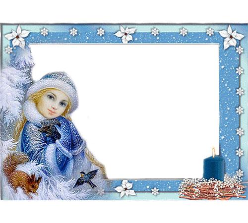Детские рамки для фотошопа: Снегурочка