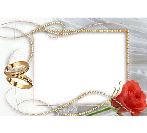 Праздничные рамки для фотошопа: Обручальные кольца