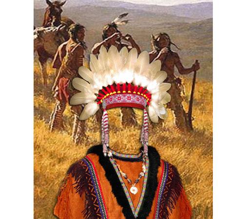 Приколы фотошопа для мужчин: Индейский вождь