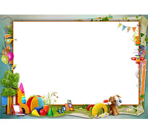 Детские рамки для фотошопа: Детские развлечения