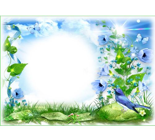 Рамки с цветами для фотошопа: Повеяло весной