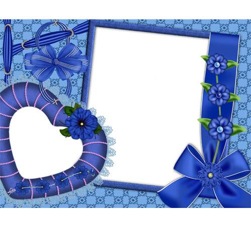 Рамки  - сердечки для фотошопа: Сердечки бантики