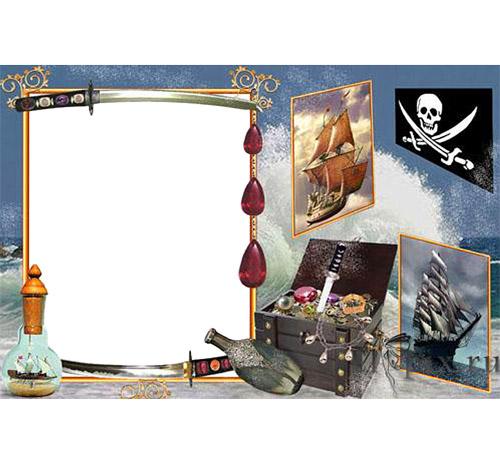 Детские рамки для фотошопа: Сокровища пиратов