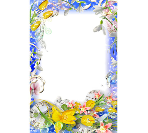 Рамки с цветами для фотошопа: Время весны
