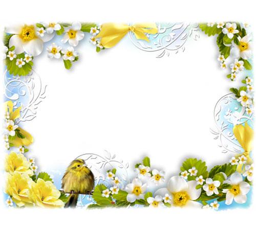 Рамки с цветами для фотошопа: Вестники весны
