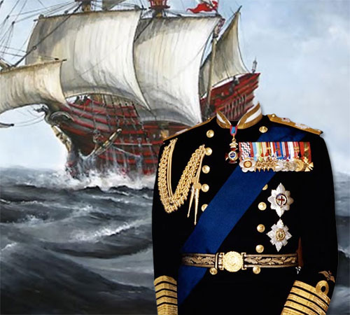 Мужские шаблоны для фотошопа: Боевой адмирал