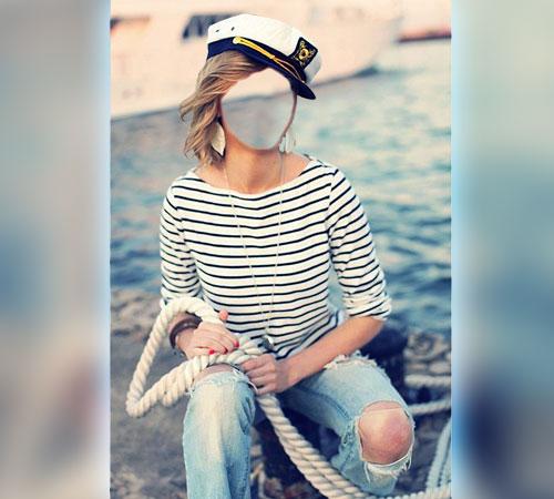 Женские шаблоны для фотошопа: В морском стиле