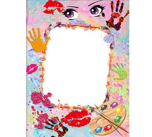 Женские рамки для фотошопа: Забавные художества