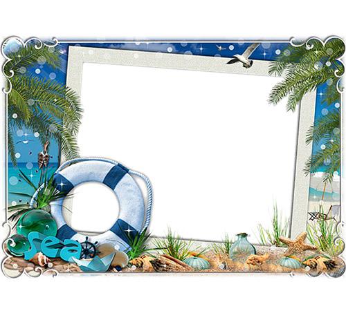 Женские рамки для фотошопа: А мы на море!