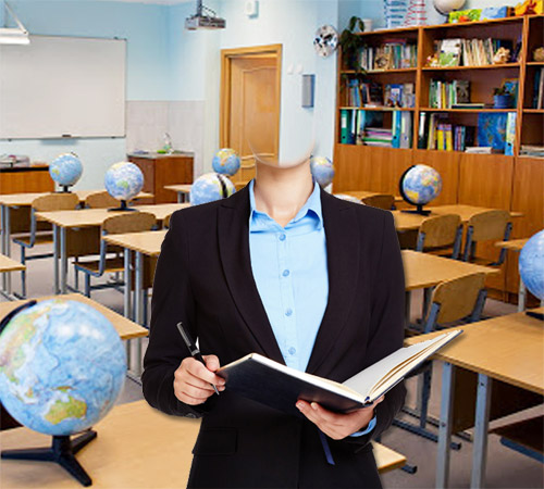 Шаблоны - профессии: Учительница географии